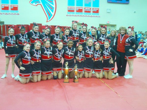 Cheerleaders State Champs Picture | Athletics
