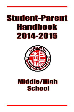 Handbook Cover pic lg | Augusta Christian Schools
