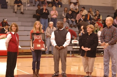 Sarah Madebach was honored as her  Cross Country jersey was retired  | Augusta Christian Schools