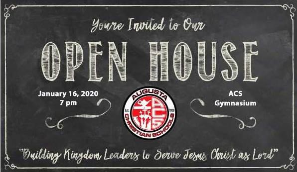 Open House 2020 image | Augusta Christian Schools